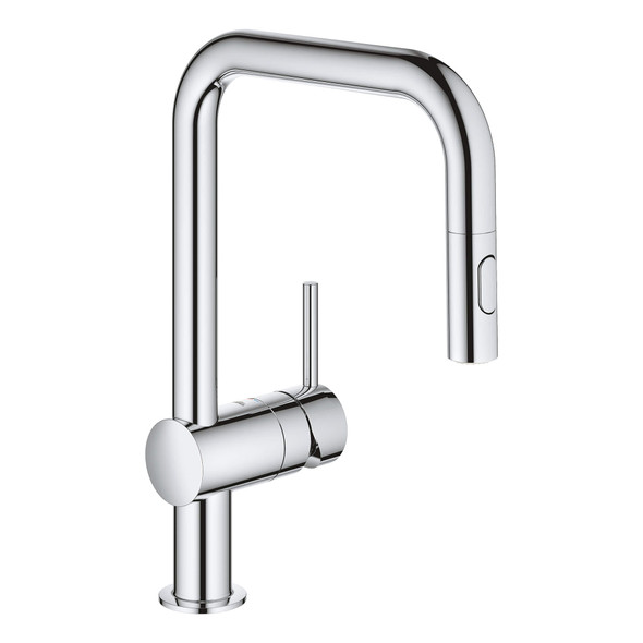 Grohe - Minta® Single-Handle Pull Out Kitchen Faucet Dual Spray