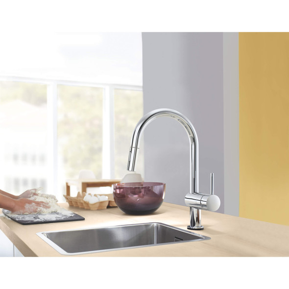 Grohe - Minta® Single-Handle Pull-Out Kitchen Faucet Dual Spray 6.6L