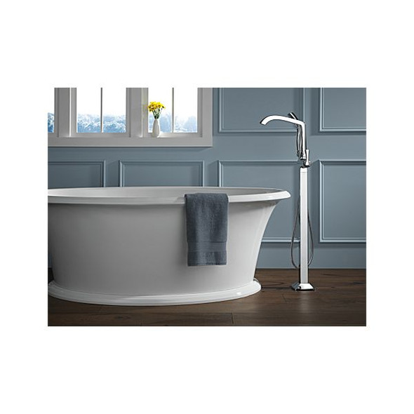 Delta - STRYKE™ Single Handle Floor Mount Tub Filler Trim