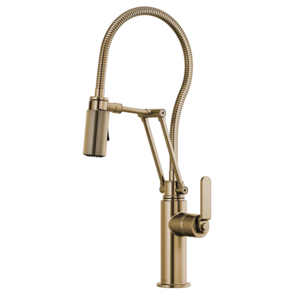 Brizo - LITZE® Articulating Faucet With Finished Hose & Industrial Handle