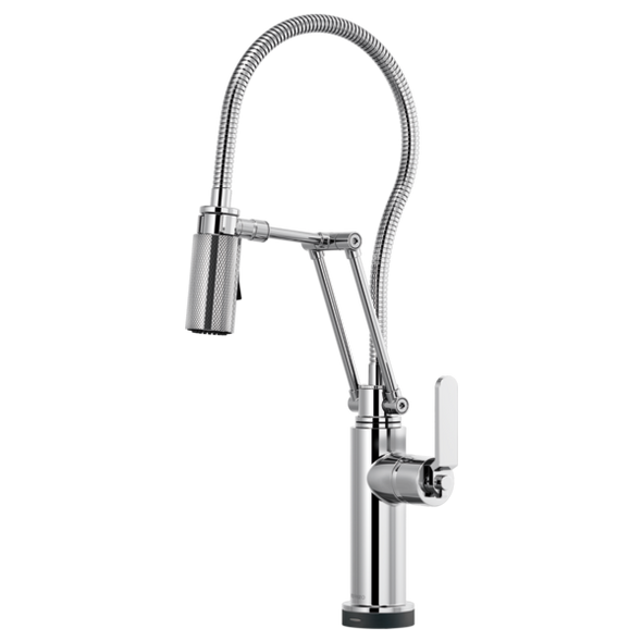 Brizo - LITZE® SmartTouch® Articulating Faucet With Finished Hose Knurled & Industrial