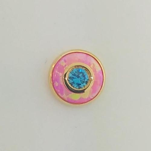 14k Y Era Big 16ga Hot Pink/Mint