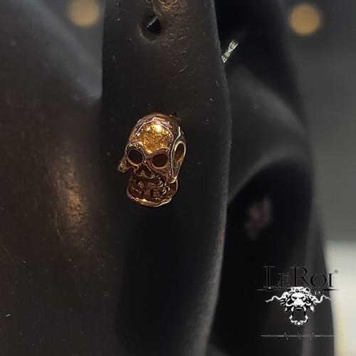 14K Y Skull 14ga