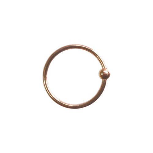 14k R Fixed Bead Ring 16ga 3/8''