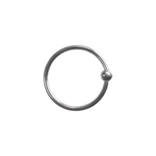 14k W Fixed Bead Ring 16ga 3/8''