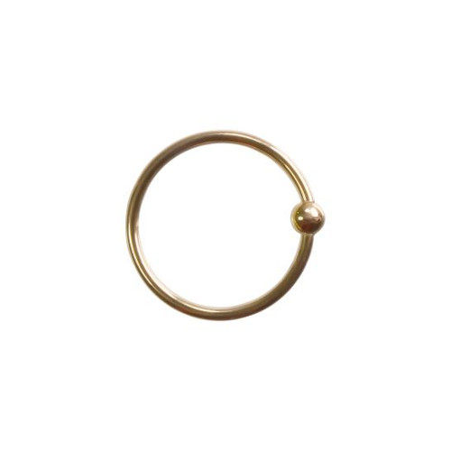 14k Y Fixed Bead Ring 16ga 5/16''