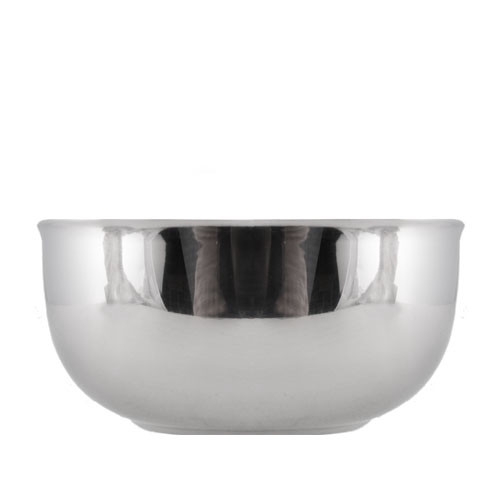 Stainless steel insulated bowl side view