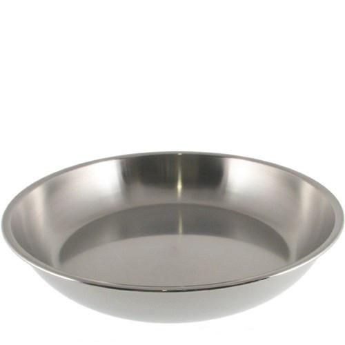 "Stainless Steel Deep Pie Plate - 25 cm / 10"""
