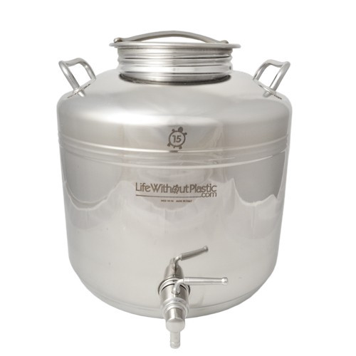 Stainless Steel Dispenser by Life Without Plastic - 15 L / 3.9 gal.
