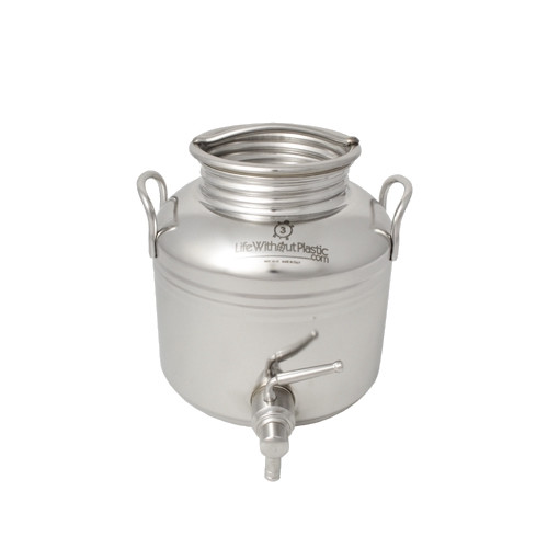 SALE - Stainless Steel Dispenser by Life Without Plastic - 3 L / 0.8 gal.