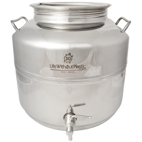 SALE - Stainless Steel Dispenser by Life Without Plastic -  30 L / 7.9 gal.