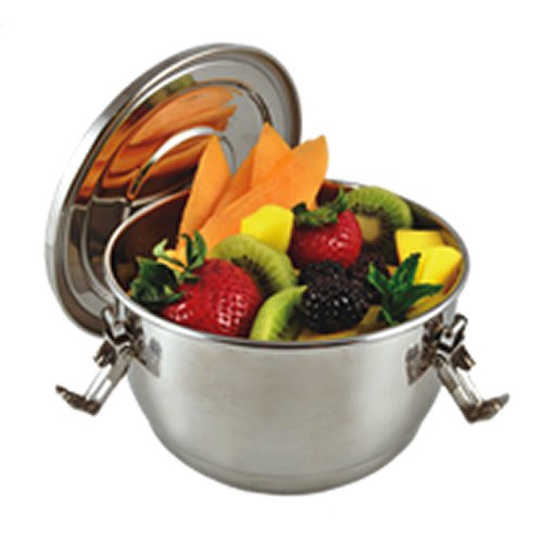 Stainless Steel Airtight Watertight Food Storage Container - 12 cm / 4.75 in.