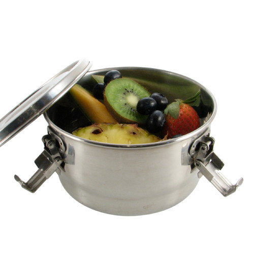 Stainless Steel Airtight Watertight Food Storage Container - 14 cm