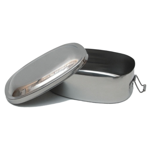 Stainless Steel Oval Bento Lunch Box
