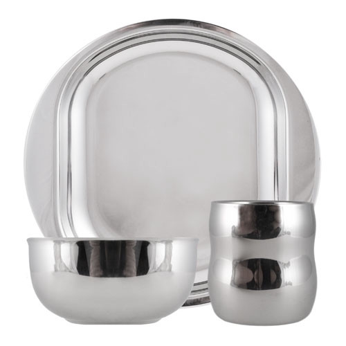 3-Piece Stainless Steel Life Without Plastic Dish Set