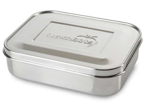 LunchBots Medium Trio 3-Compartment Stainless Steel Container