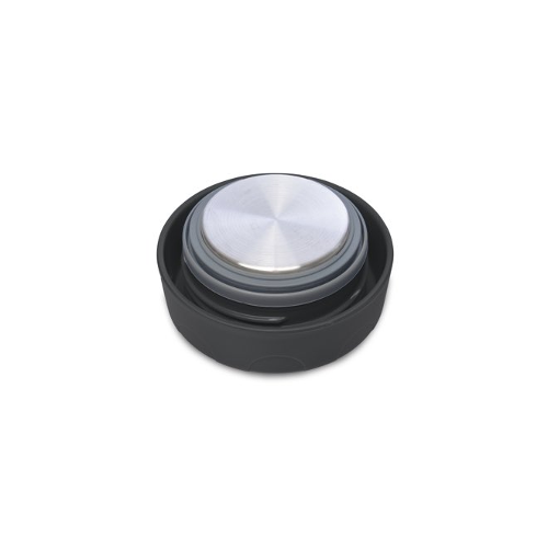 SALE - Stainless Steel Thermal Container - Black Lid -  235 ml / 8 oz