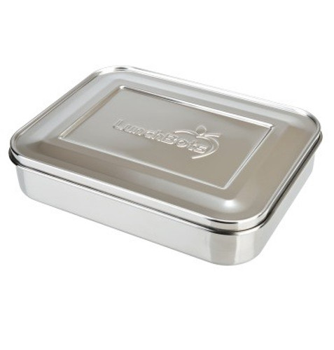 Lunchbots Large Trio 3-Compartment Stainless Steel Container