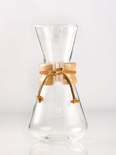 Chemex Three Cup Classic Glass Coffee Maker - 1 pint / 0.5 L (1C)
