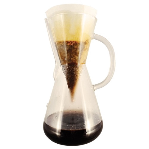 Chemex Three Cup Glass Coffee Maker with Handle - 1 pint / 0.5 L