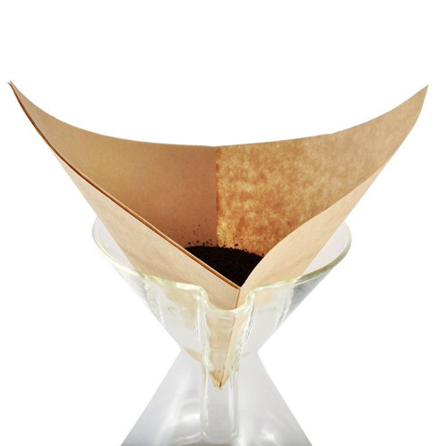 Chemex Large Unbleached Paper Coffee Filters - Prefolded Squares