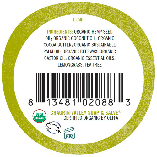 Natural Lip balm hempseed lemongrass