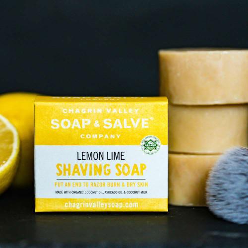 Natural Vegan Plastic-Free Shaving Soap Bar - Lemon Lime