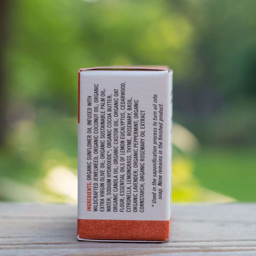 Natural soap for camping - side view