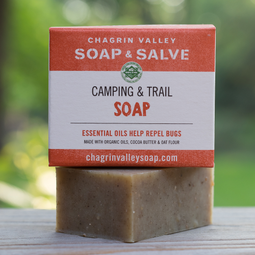 Natural soap for camping - packaging