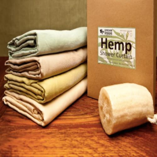 Hemp Shower Curtain - Sand