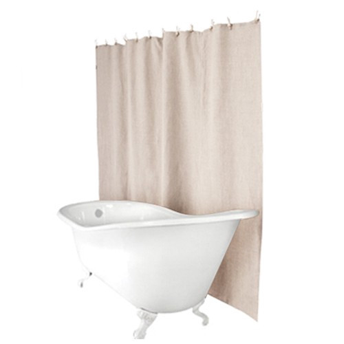 Plastic Free Hemp Shower Curtain O Sand