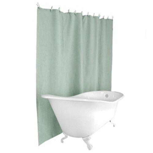 Hemp Shower Curtain - Seafoam Blue