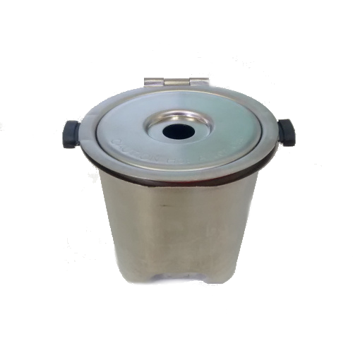 Stainless steel pod for single brewing machines - top view