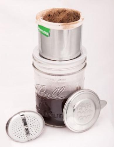 Ecojarz Dose: Pour-Over Coffee & Tea Kit for Mason Jars