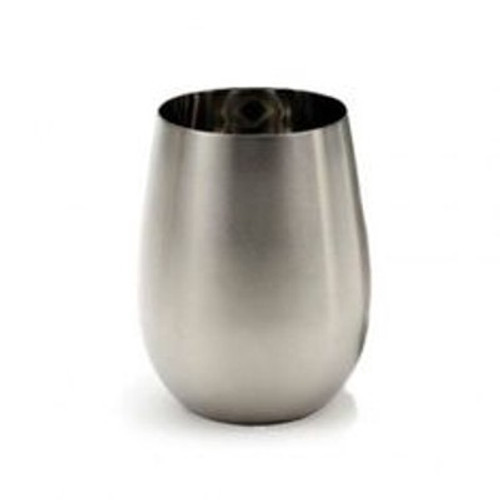 SALE - Stemless Stainless Steel Wine Glass