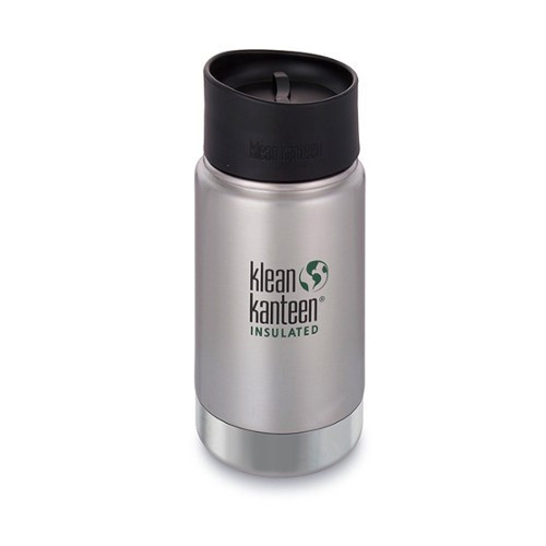 SALE - Insulated Wide Mouth Travel Mug 355 ml/ 12 oz Klean Kanteen With Leak Proof Coffee Cap