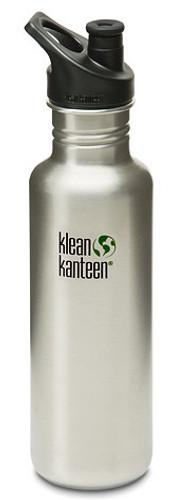 800 ml / 27 oz Klean Kanteen Bottle w/ Polypropylene Sports Cap 3.0