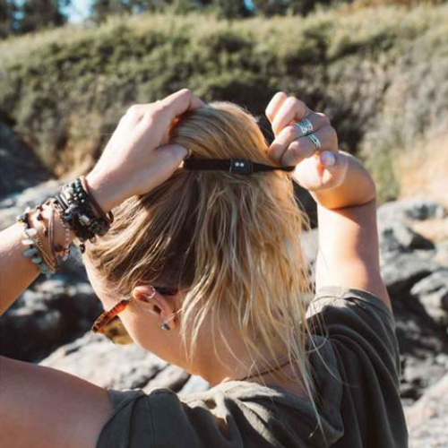 Organic Cotton Plastic-Free Hair Ties - Black