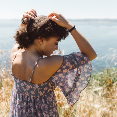 Natural black hair ties context