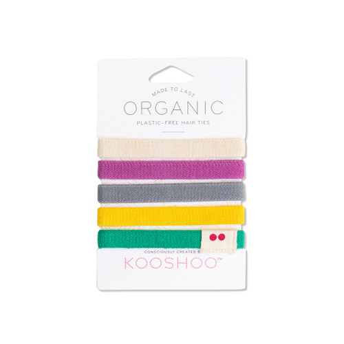 Colorful hair ties front of pack