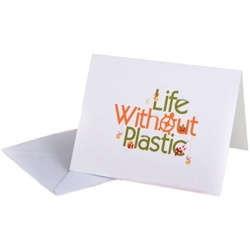 SALE - Holiday Life Without Plastic Greeting Card