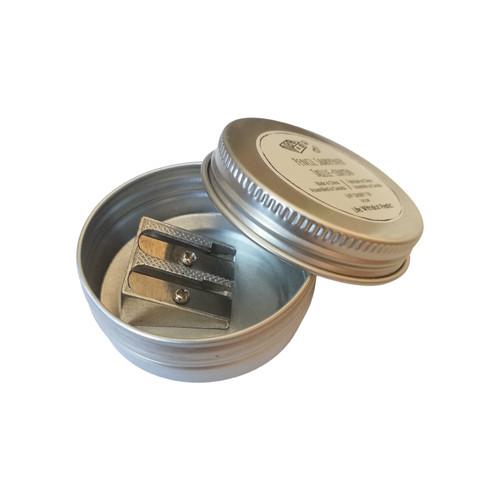 Plastic-Free Metal Pencil Sharpener in Tin