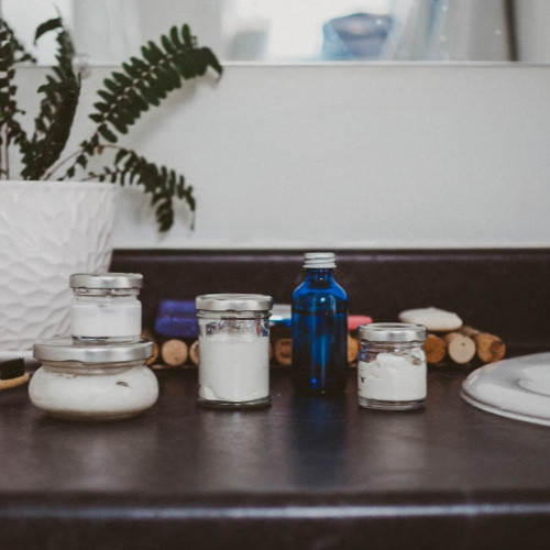 Glass Travel Jar Kit Without Plastic - context