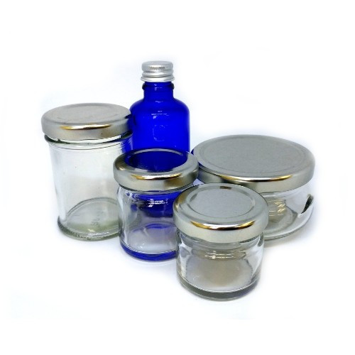 Glass Travel Jar Kit Without Plastic - 5 Pack