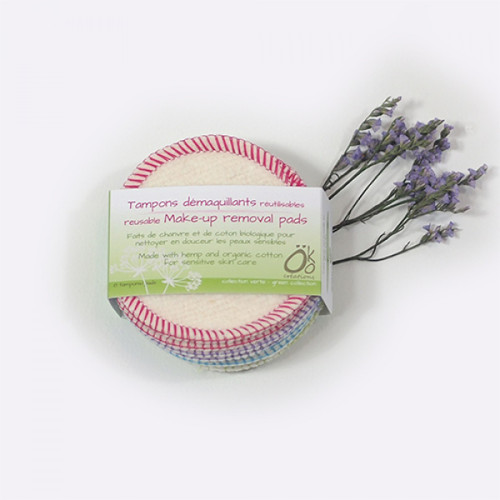 Makeup Removal Pads - Hemp & Organic Cotton