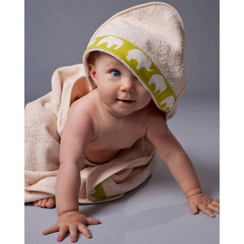 SALE - Organic Cotton Hooded Baby Bath Towel - Ukulele