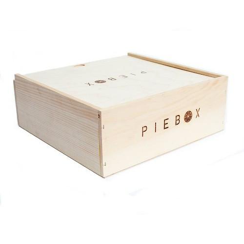 Natural Wood, Plastic-Free Pie Box