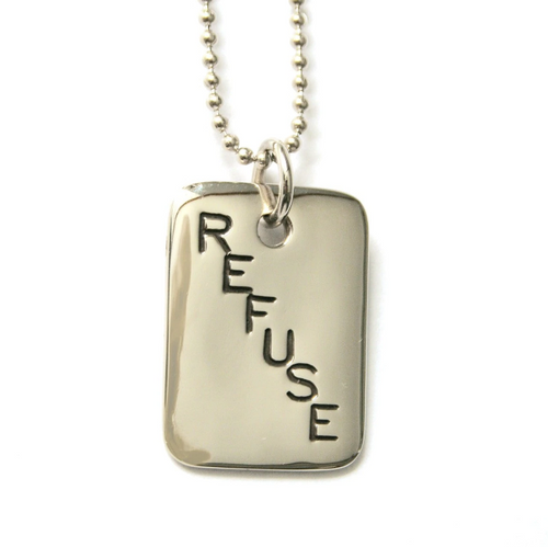 PPC Necklace - 'Refuse Plastic' - Silver