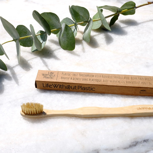 Plastic-free toothbrush adult - context