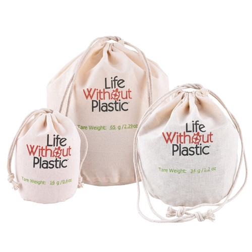 Organic Cotton Flat-Bottom Bulk Bag - Medium